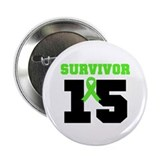 "Lymphoma Survivor 15 Year 2.25"" Button"