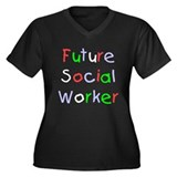 Future Social Worker Women's Plus Size V-Neck Dark