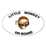 Little Monkey on Board Oval Decal