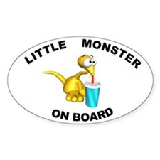 Little Monster on Board Oval Decal