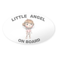 Little Angel on Board Oval Decal