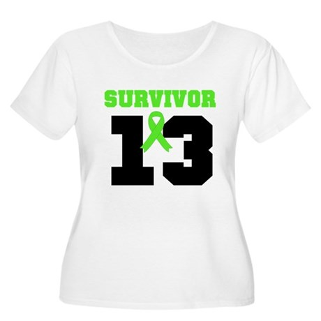 Lymphoma Survivor 13 Year Women's Plus Size Scoop