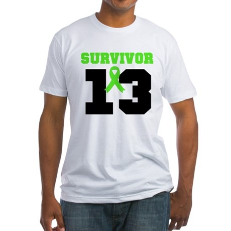 Lymphoma Survivor 13 Year Fitted T-Shirt