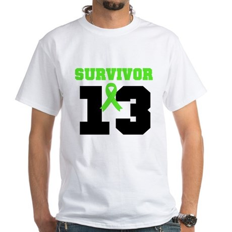 Lymphoma Survivor 13 Year White T-Shirt