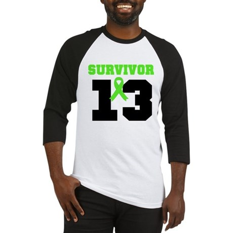 Lymphoma Survivor 13 Year Baseball Jersey