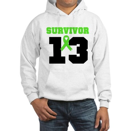 Lymphoma Survivor 13 Year Hooded Sweatshirt