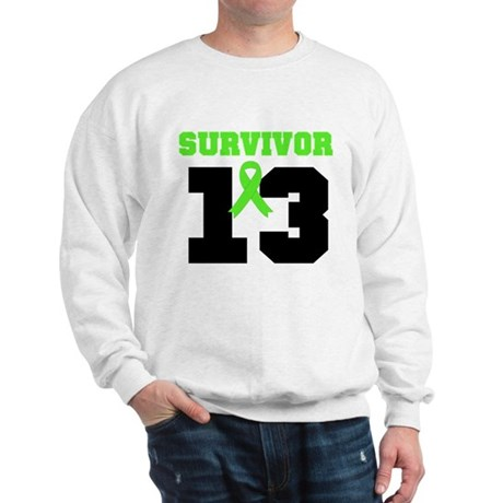 Lymphoma Survivor 13 Year Sweatshirt