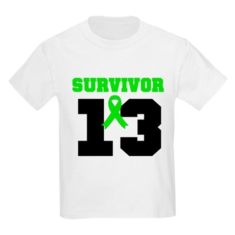 Lymphoma Survivor 13 Year Kids Light T-Shirt