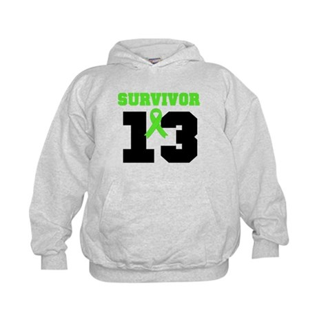 Lymphoma Survivor 13 Year Kids Hoodie