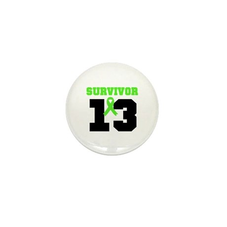Lymphoma Survivor 13 Year Mini Button