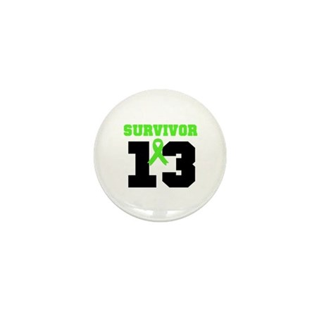 Lymphoma Survivor 13 Year Mini Button (10 pack)