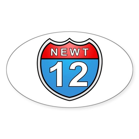 Newt Gingrich 2012 Oval Sticker