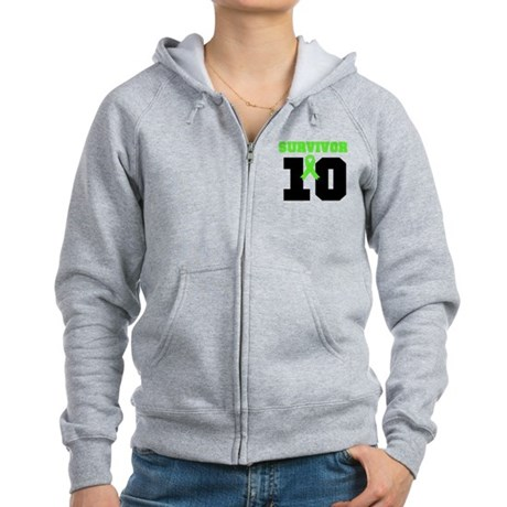 Lymphoma Survivor 10 Years Women's Zip Hoodie
