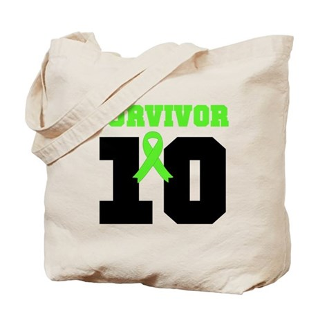 Lymphoma Survivor 10 Years Tote Bag