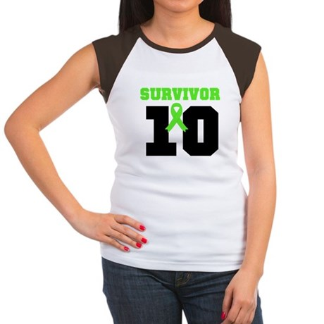Lymphoma Survivor 10 Years Women's Cap Sleeve T-Sh