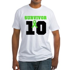 Lymphoma Survivor 10 Years Fitted T-Shirt