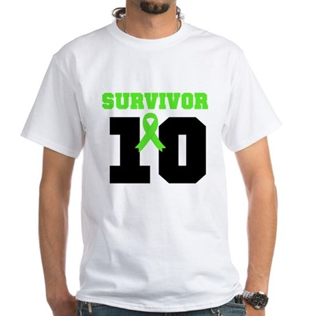 Lymphoma Survivor 10 Years White T-Shirt