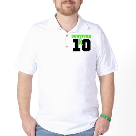 Lymphoma Survivor 10 Years Golf Shirt