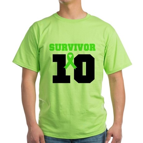 Lymphoma Survivor 10 Years Green T-Shirt