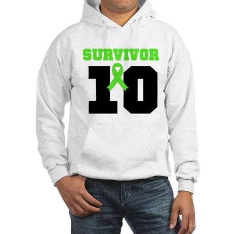 Lymphoma Survivor 10 Years Hooded Sweatshirt