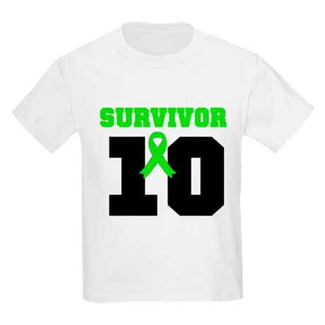 Lymphoma Survivor 10 Years Kids Light T-Shirt
