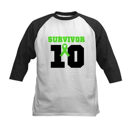 Lymphoma Survivor 10 Years Kids Baseball Jersey
