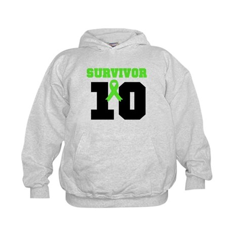 Lymphoma Survivor 10 Years Kids Hoodie