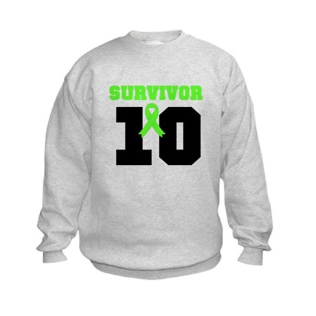 Lymphoma Survivor 10 Years Kids Sweatshirt