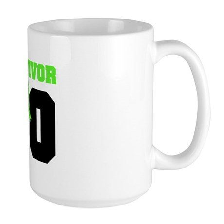 Lymphoma Survivor 10 Years Large Mug