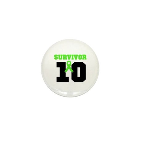 Lymphoma Survivor 10 Years Mini Button (10 pack)