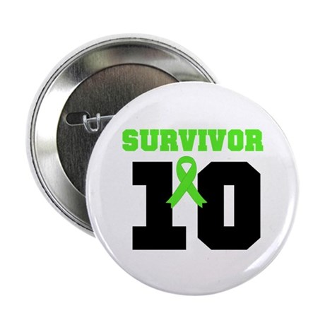 "Lymphoma Survivor 10 Years 2.25"" Button (100 pack)"