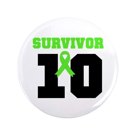 "Lymphoma Survivor 10 Years 3.5"" Button (100 pack)"