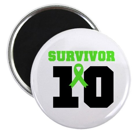 "Lymphoma Survivor 10 Years 2.25"" Magnet (10 pack)"