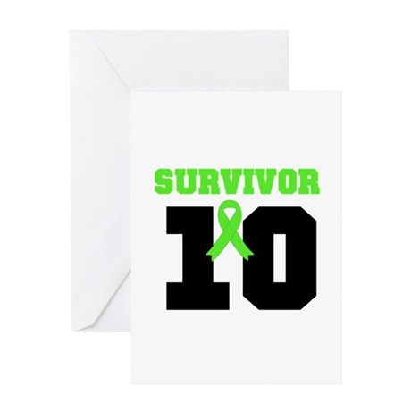 Lymphoma Survivor 10 Years Greeting Card
