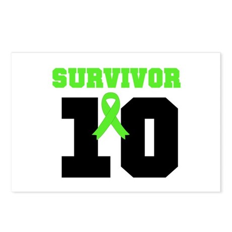 Lymphoma Survivor 10 Years Postcards (Package of 8