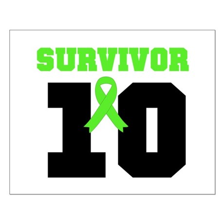 Lymphoma Survivor 10 Years Small Poster