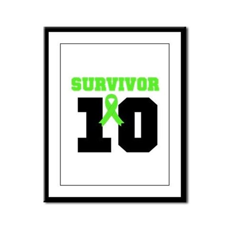 Lymphoma Survivor 10 Years Framed Panel Print