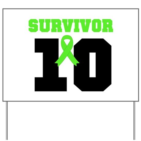 Lymphoma Survivor 10 Years Yard Sign
