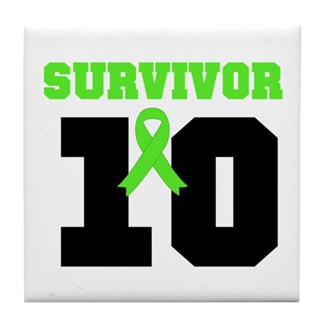 Lymphoma Survivor 10 Years Tile Coaster