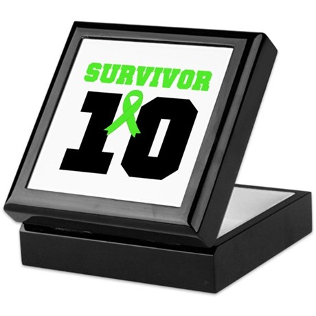 Lymphoma Survivor 10 Years Keepsake Box