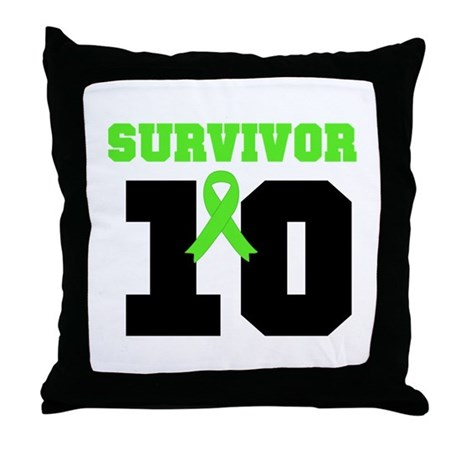 Lymphoma Survivor 10 Years Throw Pillow