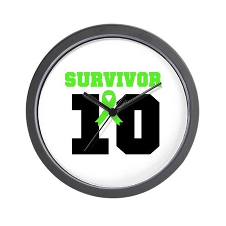 Lymphoma Survivor 10 Years Wall Clock
