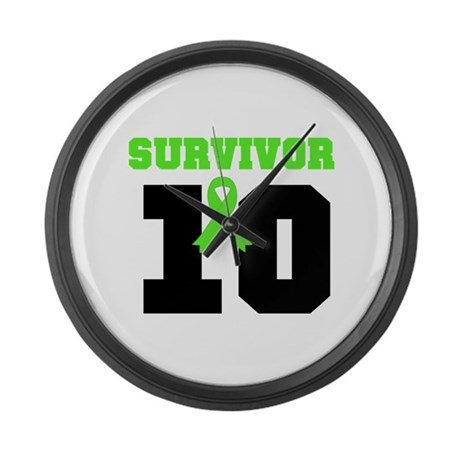 Lymphoma Survivor 10 Years Large Wall Clock