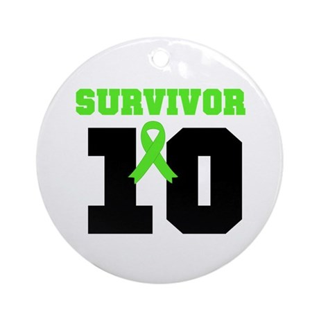 Lymphoma Survivor 10 Years Ornament (Round)