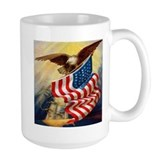"""Eagle with Flag"" Coffee Mug"