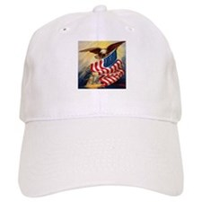 """Eagle with Flag"" Baseball Cap"