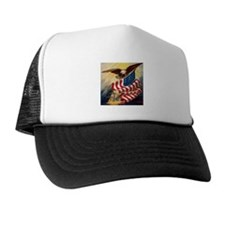 """""""Eagle with Flag"""" Trucker Hat"""