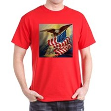 """Eagle with Flag"" T-Shirt"