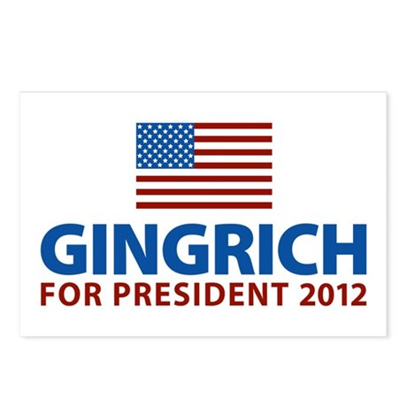 Gingrich for President 2012 Postcards (Package of
