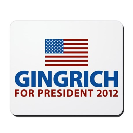 Gingrich for President 2012 Mousepad